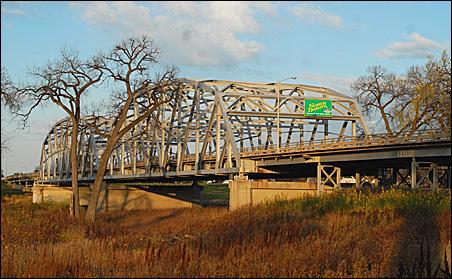 Highway 2 Kennedy Bridge in East Grand Forks.