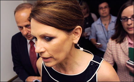 Unnamed advisers said Rep. Michele Bachmann has been hospitalized at least three times for migraines.