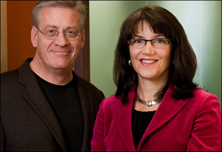 Craig Franke, left, and Deb Fiorella