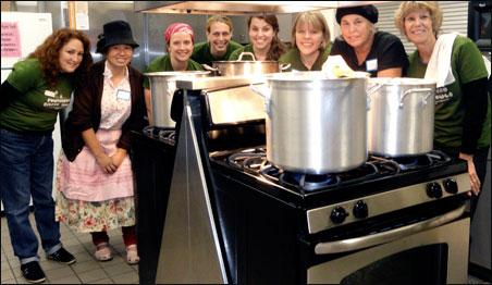 Soup volunteers