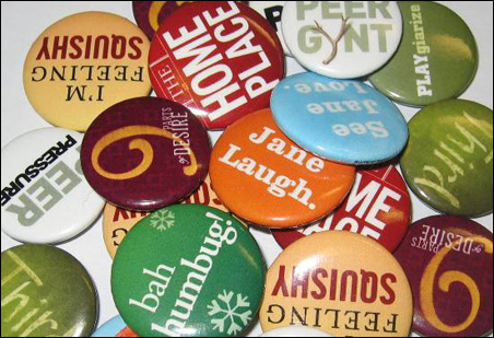 Buttons galore for Guthrie productions.