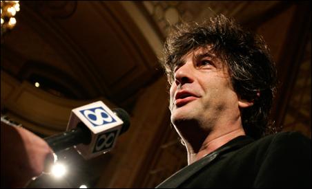 British author Neil Gaiman