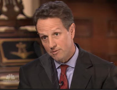 Geithner: Hear me now and believe me, uh, sometime