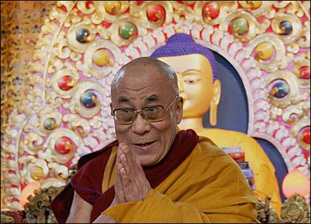The Dalai Lama at Tsugla Khang temple in Dharamsala, India, in early April.