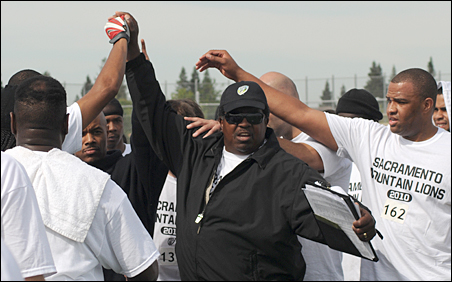 Even Dennis Green says he's surprised to be back coaching, but notes that the Sacramento semi-pro league job is a great fit for him and his family.