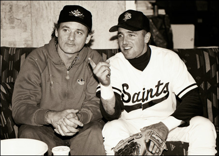 Bill Murray and Kevin Millar