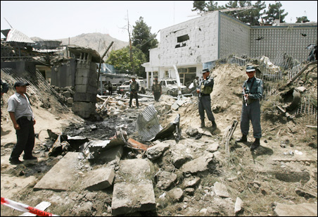 A July 7 suicide car bomb hit two diplomatic vehicles entering the Indian embassy in Kabul, leaving at least 30 people dead or wounded.