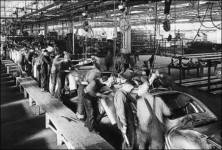 The St. Paul Ford assembly line, circa 1935.