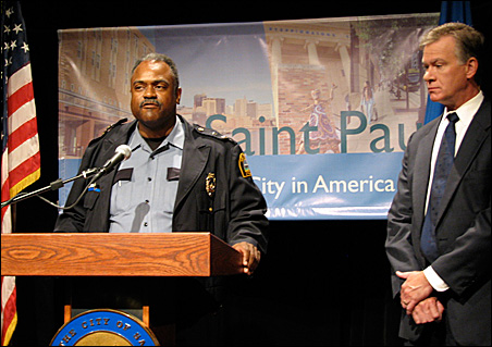 St. Paul Police Chief John Harrington and Mayor Chris Coleman say they want to ensure the rights of peaceful protesters.