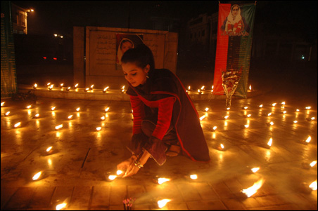 Mourner in Lahore