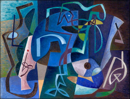 Alexander Corazzo, Abstraction No. 10, ca. 1936, oil on canvas