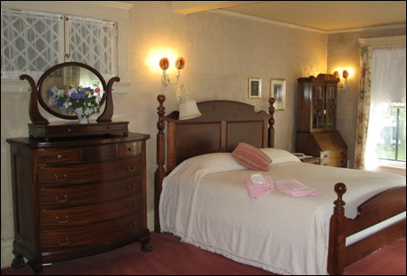 Guests sleep in the historic bedrooms of the Musser home.