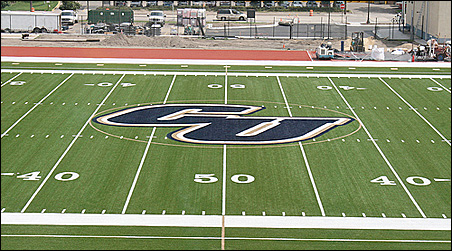 The Sea Foam Stadium field