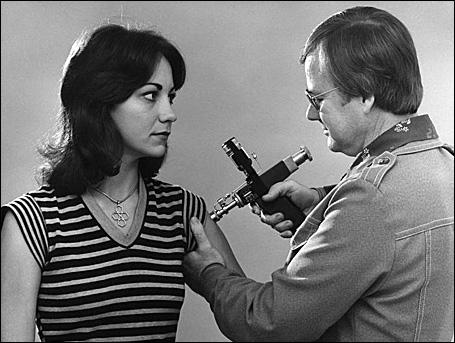 Flu shot circa 1976