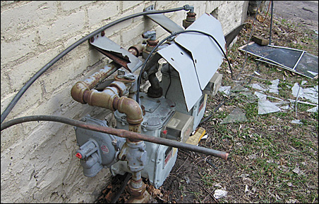 exposed pipe