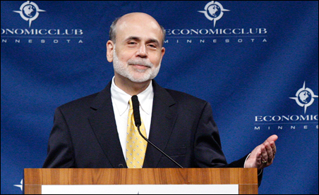 Ben Bernanke didn't sound optimistic about the prospects for much growth in the economy in the near to medium term.