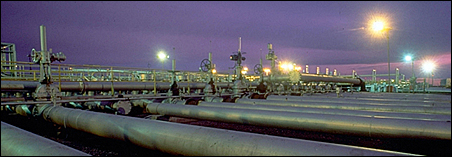 A series of Enbridge pipelines, as shown on its website.