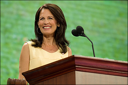 """Bachmann's statements have produced """"clarifications"""" before."""