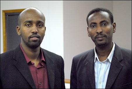 Gandi Mohamed (left) and Right Mohamed Hassan