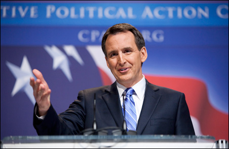 Gov. Tim Pawlenty speaks to the Conservative Political Action Conference (CPAC) during their annual meeting on Friday.