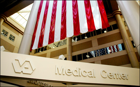 The Minneapolis VA claims it is home to the largest flag in Minnesota — a 30-by-60-footer in one of the center's three atriums.