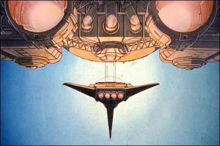 "Moebius-designed spaceships in ""Time Masters"""