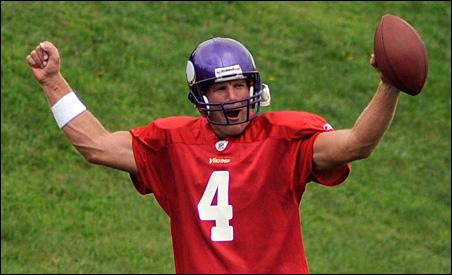 Brett Favre at Wednesday's practice