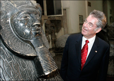 Austrian President Heinz Fischer shown visiting the Egyptian National Museum in Cairo in 2007.