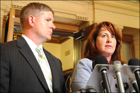"House Speaker Kurt Zellers and Senate Majority Leader Amy Koch are dealing with caucuses made up of large groups of ""no new taxes"" members."