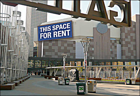 With new stadium next door, Target Center has some valuable advertising space to market.