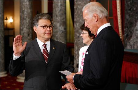 Sen. Al Franken, Vice President Joe Biden
