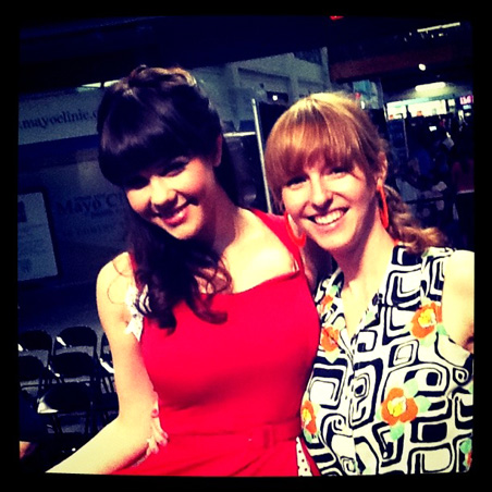 Claire Sinclair and Coco.