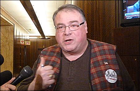 Citizen activist Greg Copeland is threatening to force a referendum if tax money goes to a Vikings stadium.