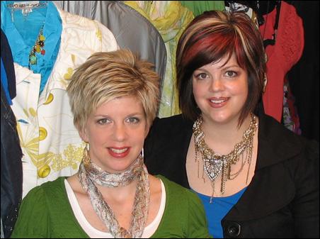 Rebecca Martin, left, and Carrie Leum