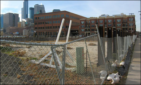 Brighton Development has pulled out of the Portland condo project proposed for this site between South Second Street and Washington Avenue.