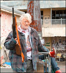"Rutger Hauer in ""Hobo With a Shotgun"""