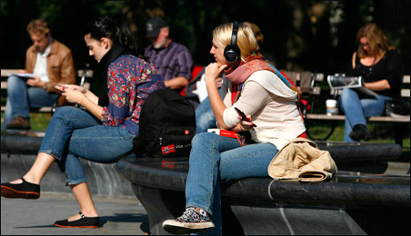 Listening to music through headphones helps create an invisible zone of personal space that enables us to be in closer physical proximity to strangers.