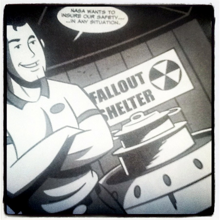 """Panel detail from """"Astronaut Dad"""""""