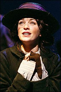 Lisa O'Hare as Eliza Doolittle.