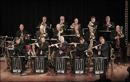 The Mike Vax Big Band includes alumni from Stan Kenton's band.