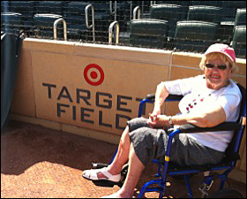 With Ruth London's health slipping, friends arranged a special tour of Target Field for her.
