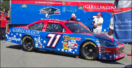 The #71 Post-9/11 GI Bill Chevrolet, which cost the VA $200,000 to sponsor for one race last year. Photo courtesy: Rep. McCollum's office.