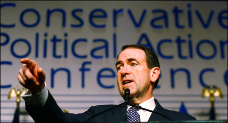 Presidential candidate and former Arkansas Governor Mike Huckabee