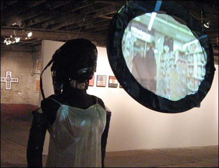 A video/sculpture by Chrys Carrol is part of the show at the Soap Factory.