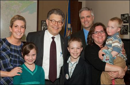 Sen. Franken and Boyum family