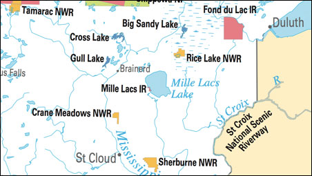 The Mille Lacs Reservation.