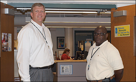 Former Dayton's Bluff principal Andrew Collins, left, is succeeded by Steven Flucas, right. Collins is the St. Paul district's new turnaround schools director.