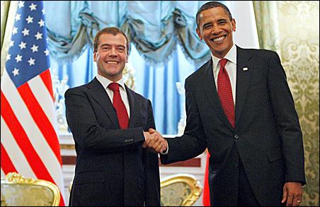 Russian President Dmitry Medvedev, President Barack Obama
