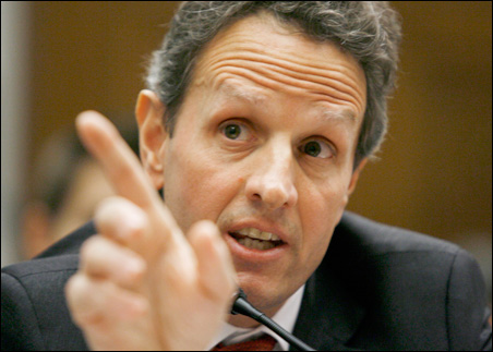 Treasury Secretary Timothy Geithner testifies before the U.S. House Oversight and Government Reform Committee hearing on Wednesday.