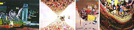 Above: Imploding the Boardwalk, 2006; Fiori di Como and Moss House, 2006; Shoe City I, 2007; Pearl Farm Underwater II, 2007